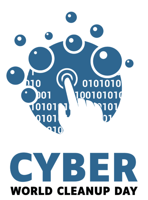 logo cyber world clean up day